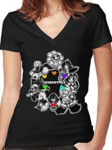 Undertale Funny Women's Fitted V-Neck T-Shirt