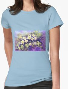Primroses and Violets Womens Fitted T-Shirt