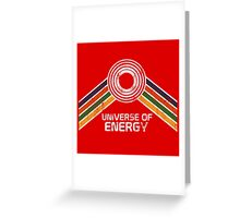 Universe of Energy Logo in Vintage Distressed Style Greeting Card