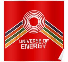 Universe of Energy Logo in Vintage Distressed Style Poster