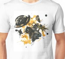 Pug With A Bowler Hat Unisex T-Shirt