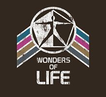 Wonders of Life Logo in Vintage Distressed Style Unisex T-Shirt