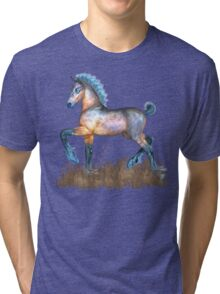Foal with a spring in his step Tri-blend T-Shirt