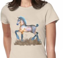 Foal with a spring in his step Womens Fitted T-Shirt