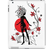 Graphic silhouette of a woman iPad Case/Skin