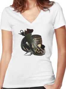 Salvage On The Ocean Floor  Women's Fitted V-Neck T-Shirt
