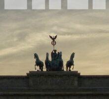 BERLIN Brandenburg Gate sunset (Brandenburger Tor) Sticker