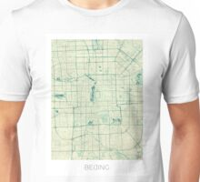 Beijing Map Blue Vintage Unisex T-Shirt