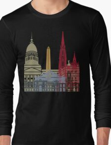 Buenos Aires skyline poster Long Sleeve T-Shirt