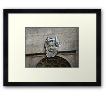 Mascaron angel Framed Print