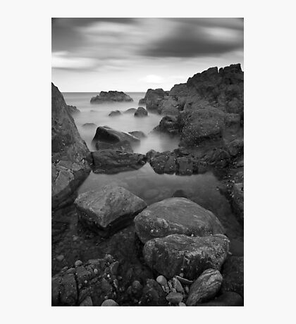 low tide, greyhope bay Photographic Print