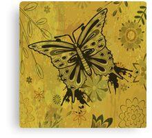 Vintage Grunge Butterfly Vector Design Canvas Print