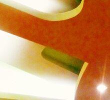 light art at the artistic roof art Sticker