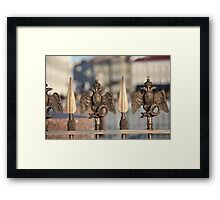 fence with double eagle guard Framed Print