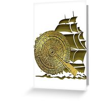 A Nocturnal Voyage At Sea Greeting Card