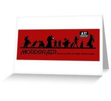Mordor Air Greeting Card