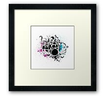 Funky Drummer Vector Illustration Framed Print