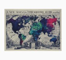 map of the world Kids Tee