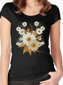 Sweet Daisies  Women's Fitted Scoop T-Shirt