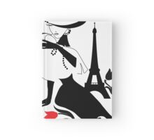 Woman vintage silhouette Hardcover Journal