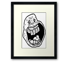 trolls face Framed Print