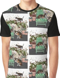 Lazy Days .. June Cats Graphic T-Shirt