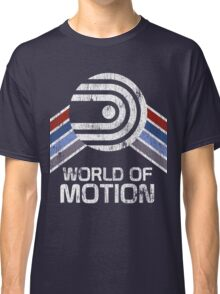 World of Motion Logo in Vintage Distressed Style Classic T-Shirt