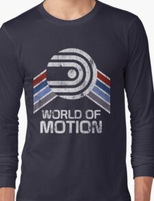 World of Motion Logo in Vintage Distressed Style Long Sleeve T-Shirt