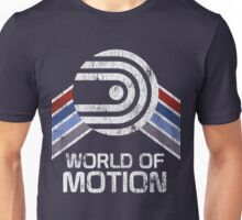 World of Motion Logo in Vintage Distressed Style Unisex T-Shirt
