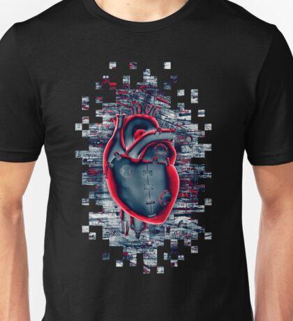 Gamer Heart BLUE CRIMSON Unisex T-Shirt