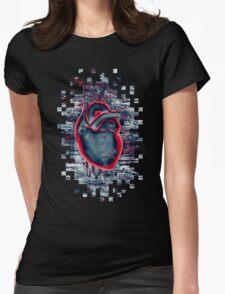 Gamer Heart BLUE CRIMSON Womens Fitted T-Shirt