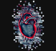 Gamer Heart BLUE CRIMSON Unisex T-Shirt