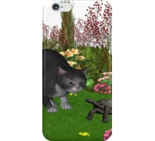 Trouble in the garden .. July Cat iPhone Case/Skin