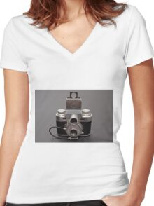 Antique Camera Women's Fitted V-Neck T-Shirt