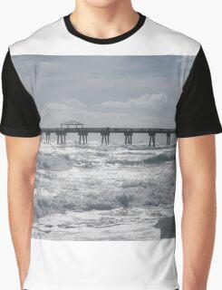 White Waves Graphic T-Shirt