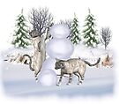Fun in The Snow .. January cats by LoneAngel