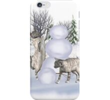 Fun in The Snow .. January cats iPhone Case/Skin