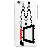 Old telephone, whisk, and oven combined iPhone Case/Skin