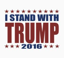 I Stand With Donald Trump One Piece - Short Sleeve