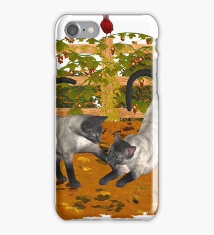 Play Time .. September Cats iPhone Case/Skin