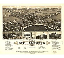 Mount Clemens Macomb County Michigan (1881) Photographic Print