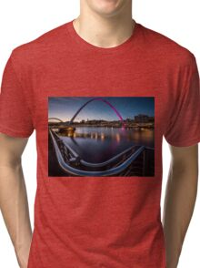 The Millennium Bridge Gateshead Tri-blend T-Shirt