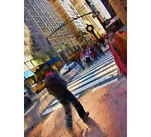 Colorful NYC Street Scene Photographic Print