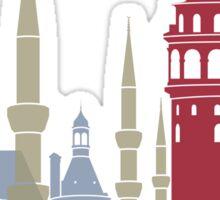 Istanbul skyline poster Sticker