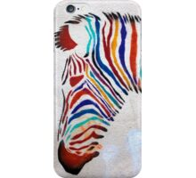 zebra rainbow iPhone Case/Skin
