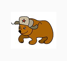 Cartoon Bear wearing a Russian hat earflaps Unisex T-Shirt
