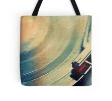 Spinning Vinyl Record Painting Tote Bag