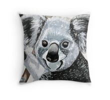 Happy Koala Smiles Throw Pillow