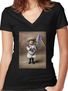 Firecrackers 1906 Women's Fitted V-Neck T-Shirt