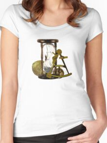 Calculating Time And Direction At Sea  Women's Fitted Scoop T-Shirt